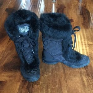 Coach Jennie lace-up boots with fur